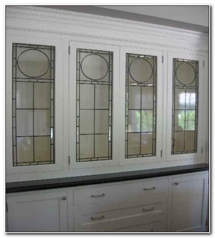 Faux Leaded Glass Cabinet Doors