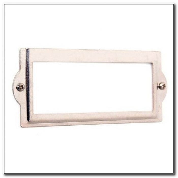 File Cabinet Label Holders Metal