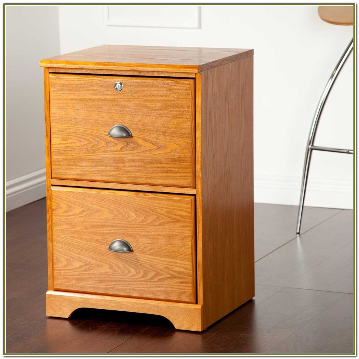 Filing Cabinet Wood 2 Drawer