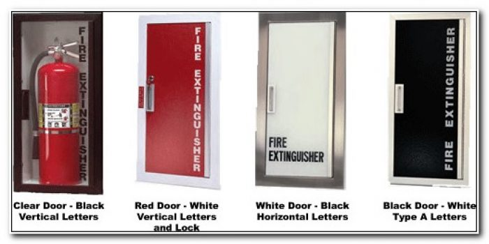 Fire Extinguisher Cabinets Recessed