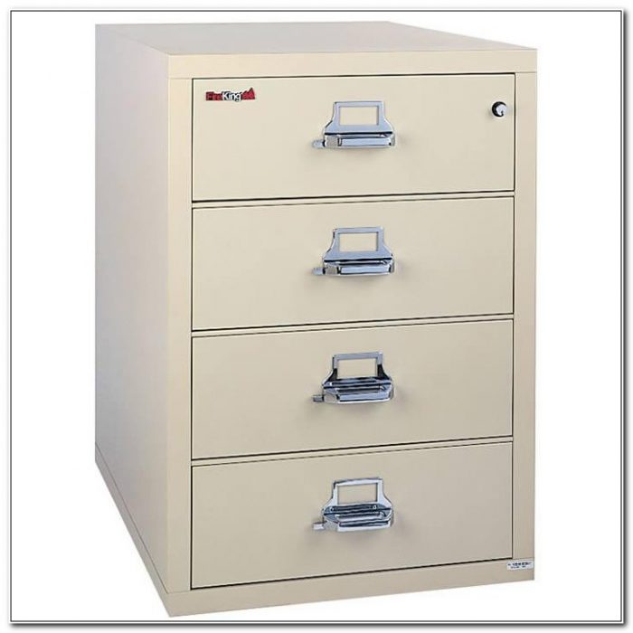 Fireking Four Drawer Fireproof Lateral File Cabinet
