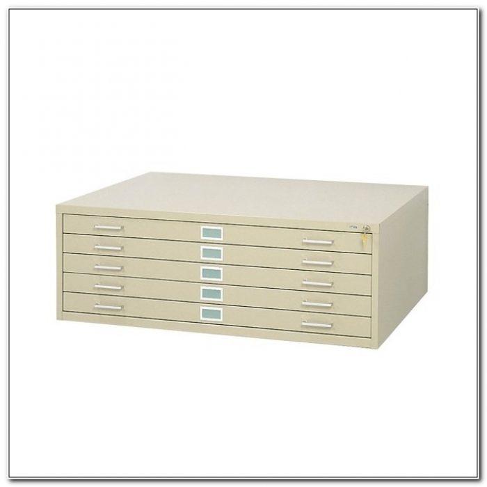 Five Drawer Flat File Cabinet