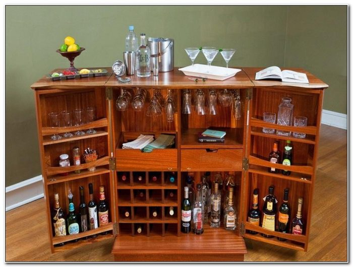 Fold Out Bar Cabinet