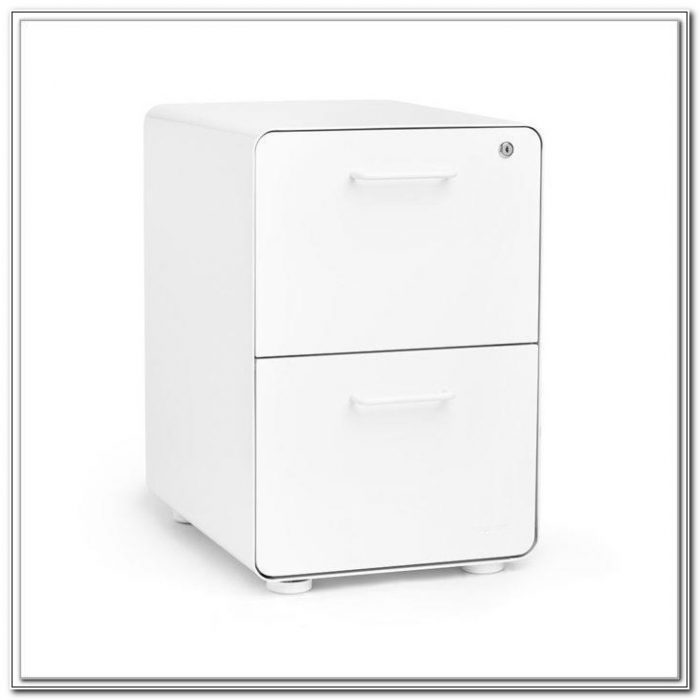 Foolscap 2 Drawer White Filing Cabinet