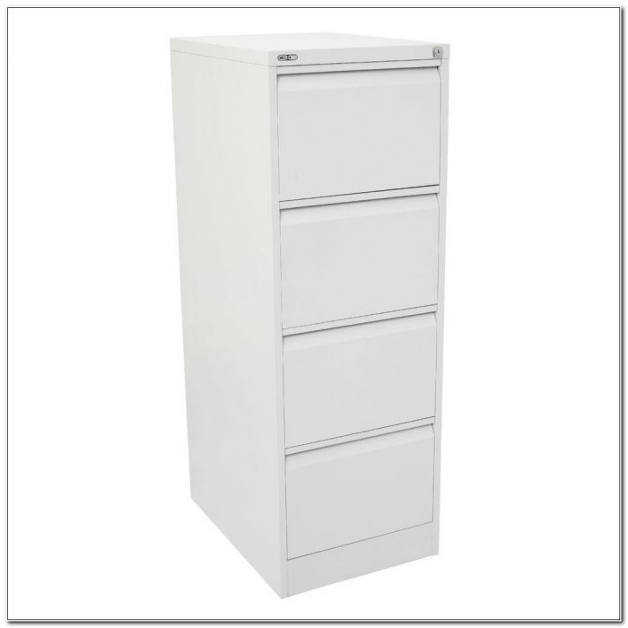 Four Drawer Filing Cabinet White