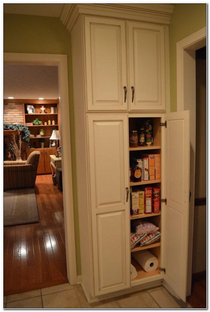 Free Standing Skinny Pantry Cabinet