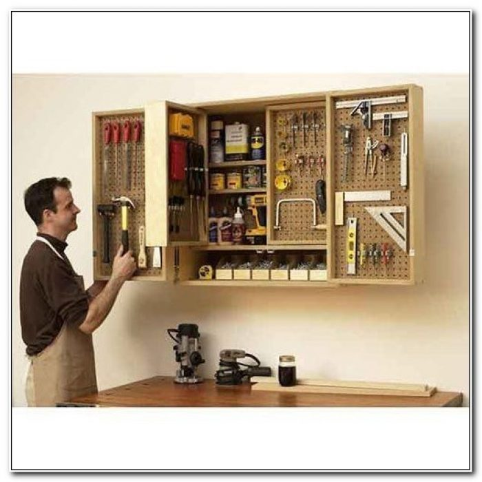Free Wall Mounted Tool Cabinet Plans