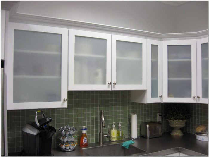 Frosted Glass Kitchen Cabinet Door Inserts