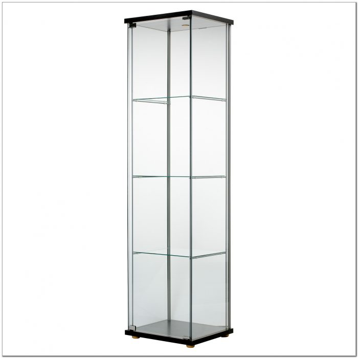 Glass Curio Display Cabinet Black