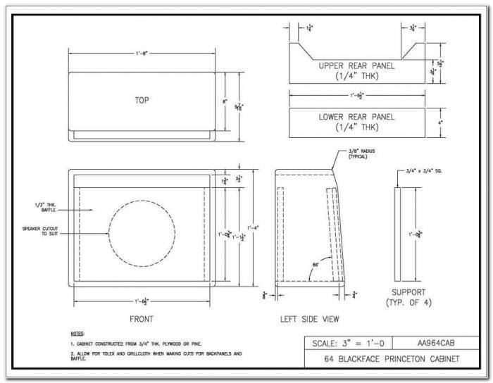 Guitar Speaker Cabinet Plans 1x12