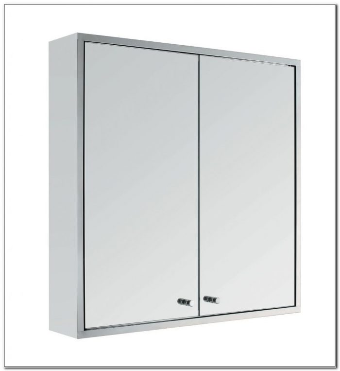 Homebase Swivel Mirror Bathroom Cabinet