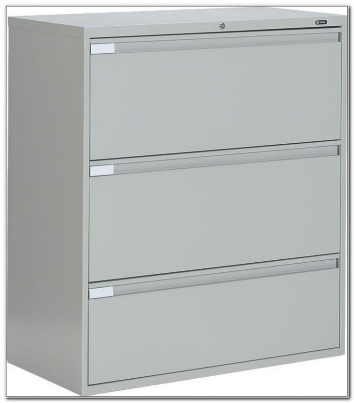Hon 3 Drawer Metal File Cabinet