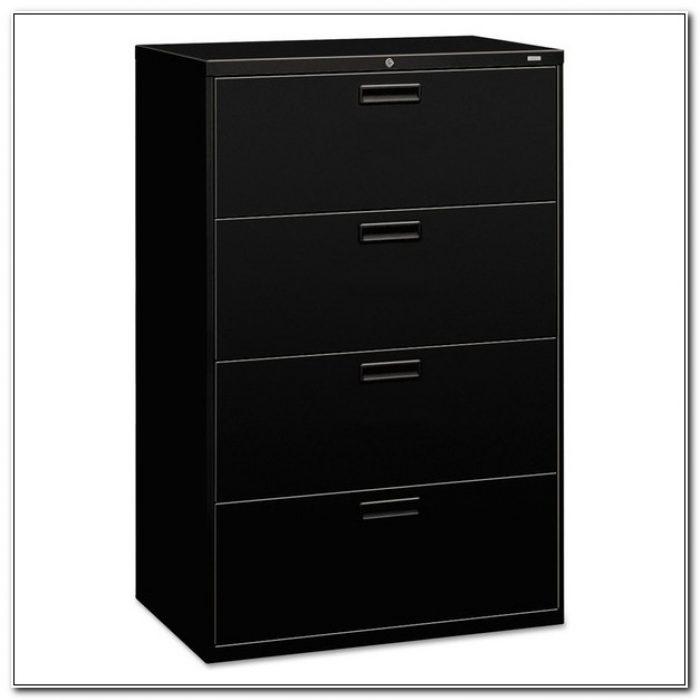 Hon 4 Drawer File Cabinet Black