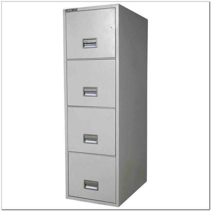 Hon 4 Drawer Locking File Cabinet