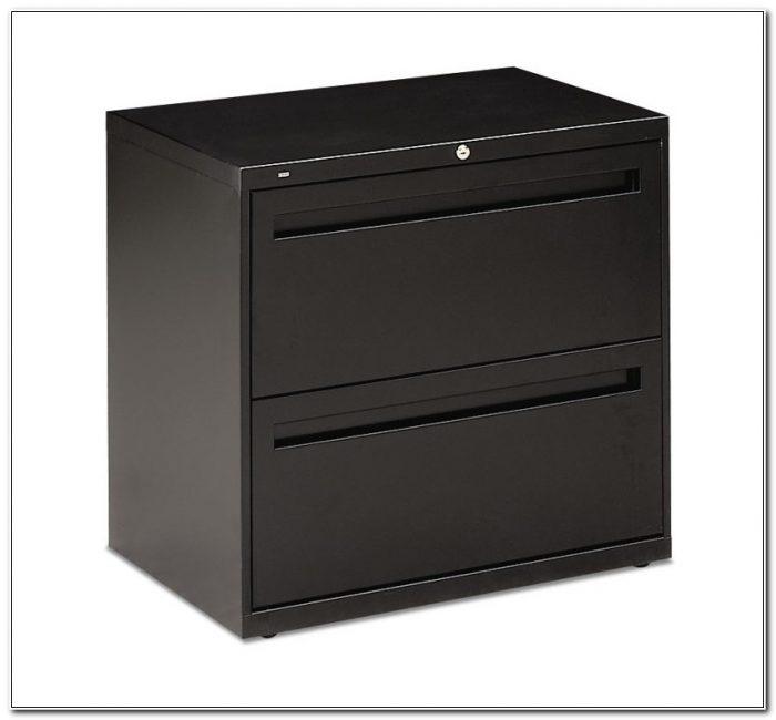 Hon Black File Cabinet 2 Drawer