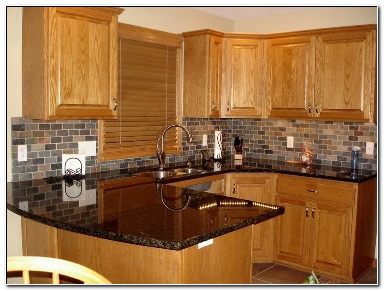 Honey Oak Kitchen Cabinets With Granite Countertops