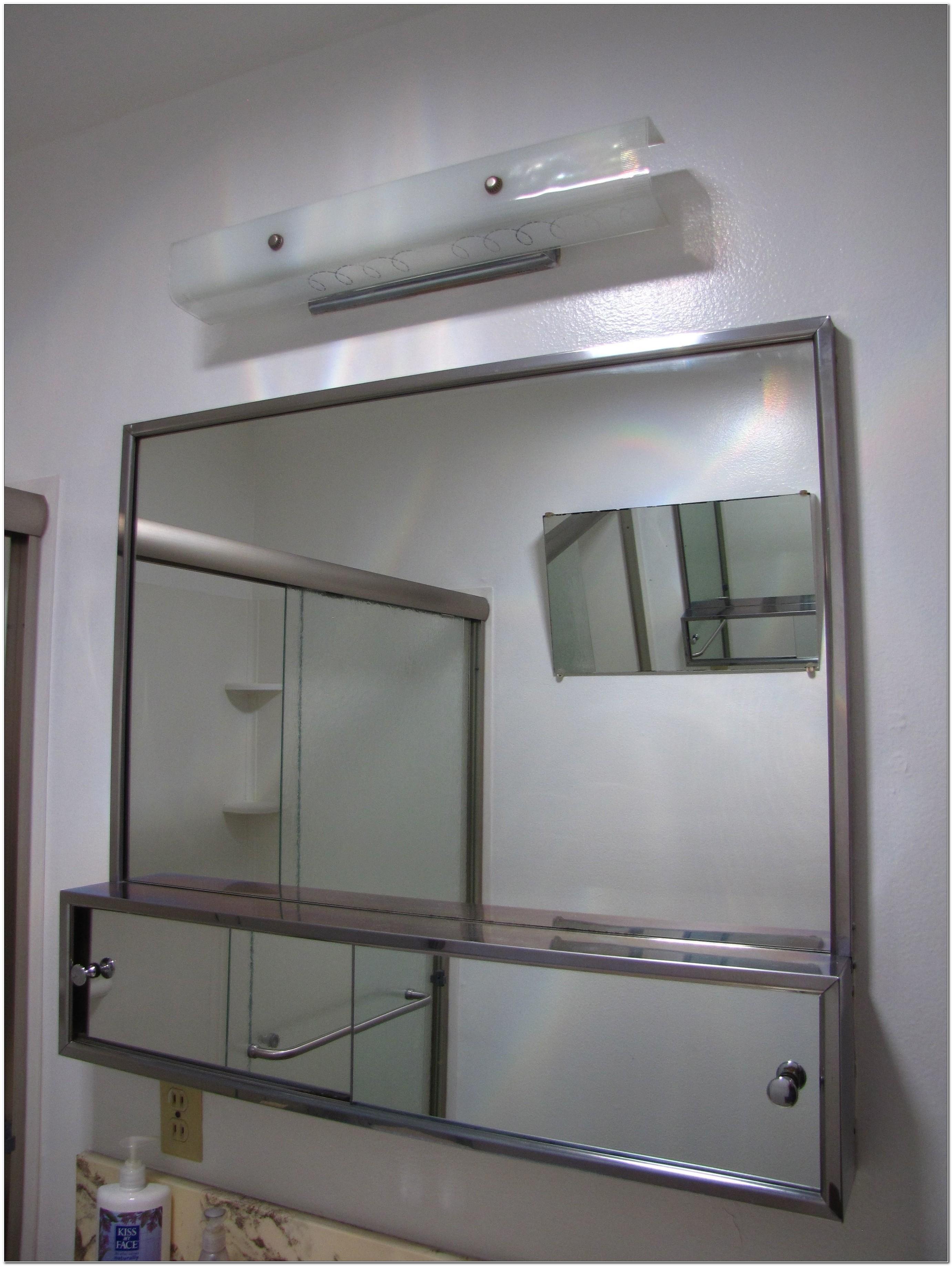Horizontal Sliding Door Medicine Cabinet