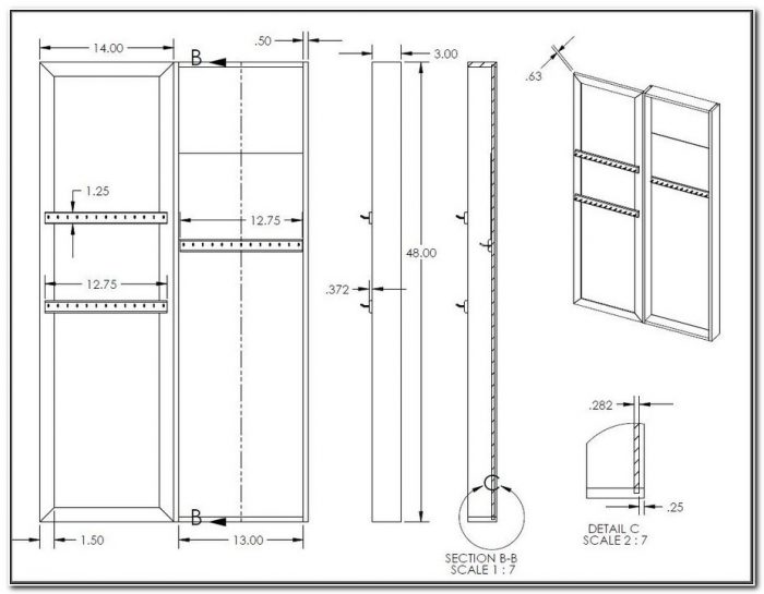 In Wall Jewelry Cabinet Plans