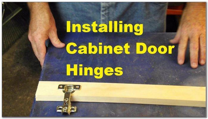 Installing Hidden Cabinet Door Hinges