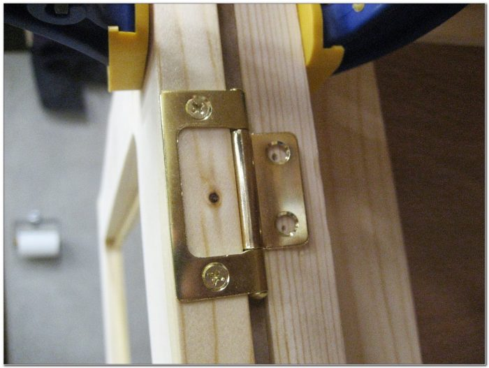 Installing Non Mortise Cabinet Hinges