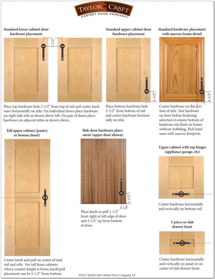 Kitchen Cabinet Door Pulls Placement