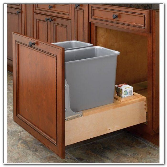 Kitchen Cabinet Garbage Drawer