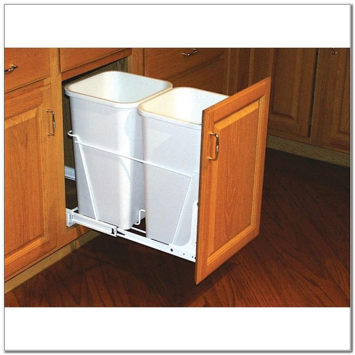 Kitchen Cabinet Trash Can Pull Out