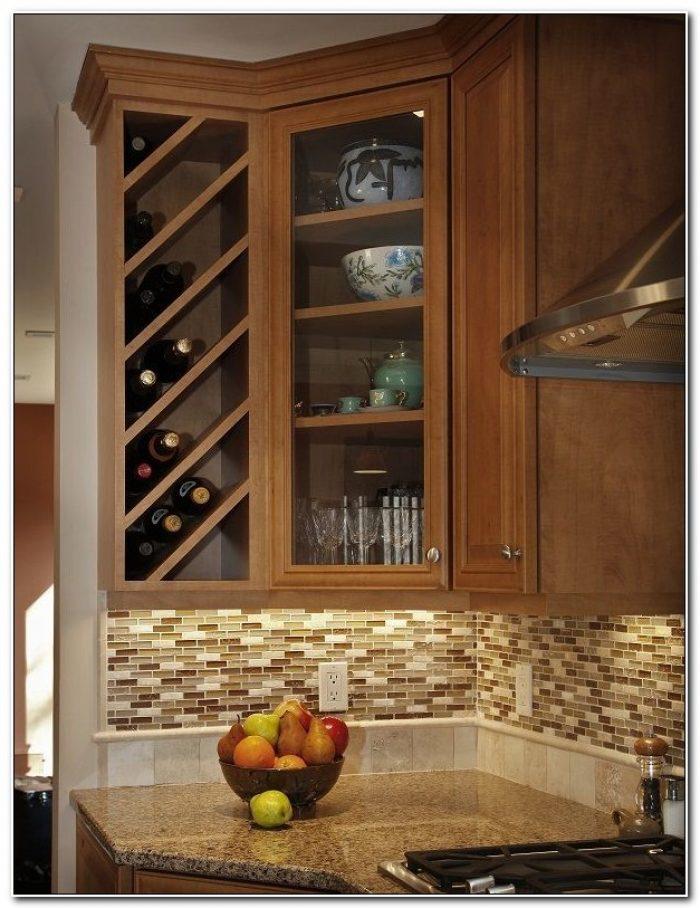 Kitchen Cabinet Wine Rack Ideas