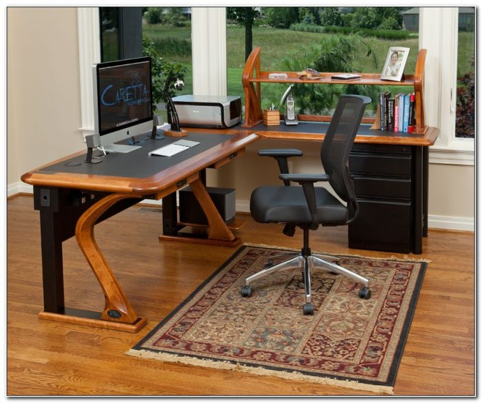 L Shaped Computer Desk With File Cabinet