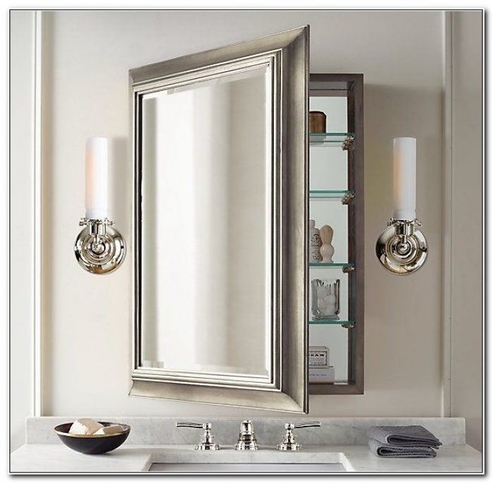 Large Bathroom Mirror Medicine Cabinet