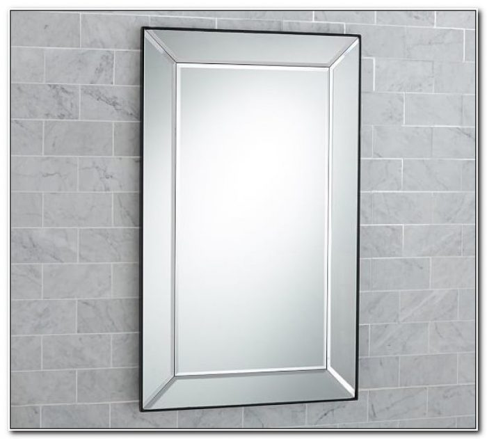 Large Framed Mirror Medicine Cabinet