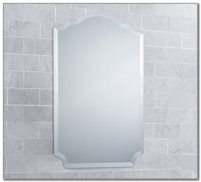 Large Frameless Mirror Medicine Cabinet