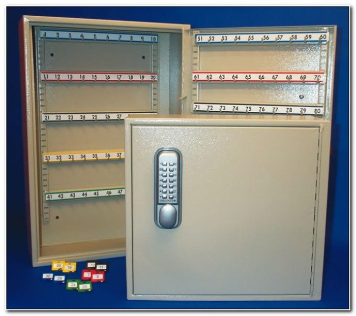 Large Key Cabinet With Combination Lock