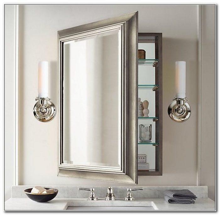 Large Recessed Medicine Cabinet Mirror