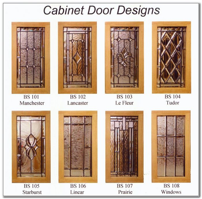Leaded Glass Cabinet Door Inserts