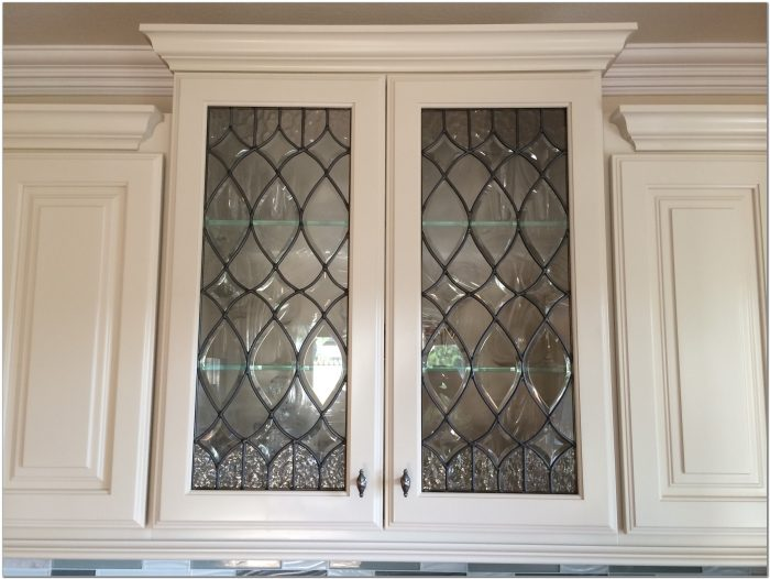 Leaded Glass Cabinet Door Panels