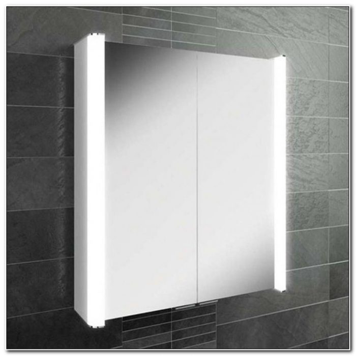 Led Bathroom Mirror Cabinet With Shaver Socket