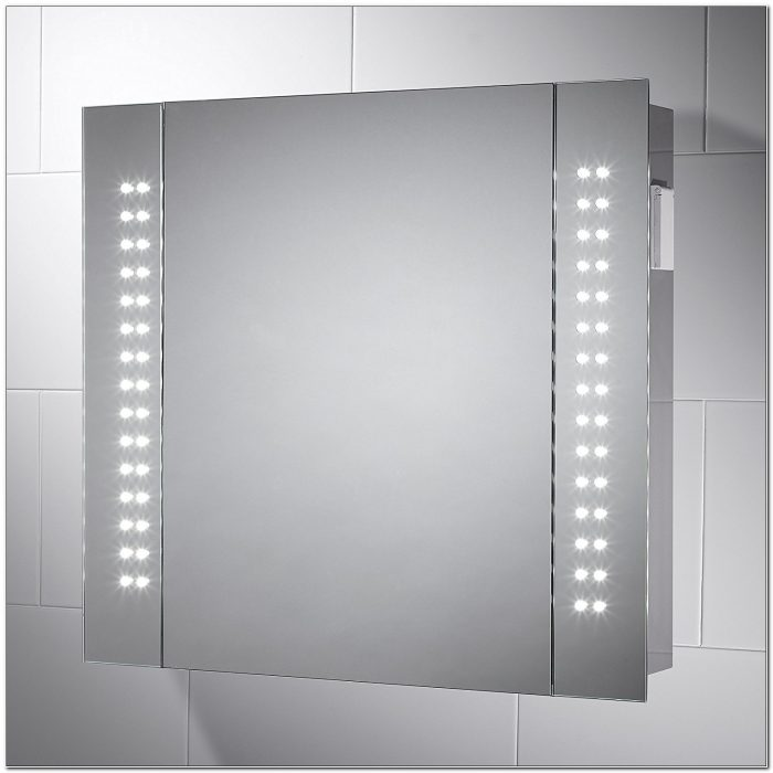 Led Illuminated Bathroom Demister Cabinet Mirror