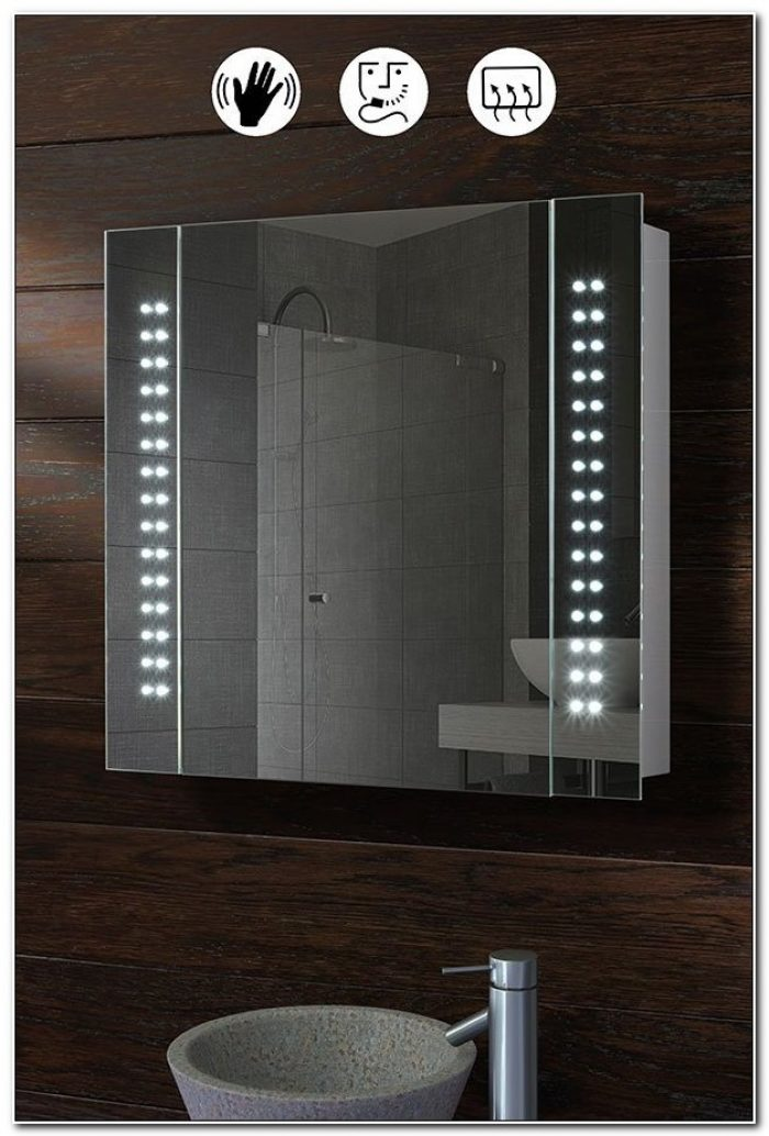 Led Illuminated Bathroom Mirror Cabinet Galactic