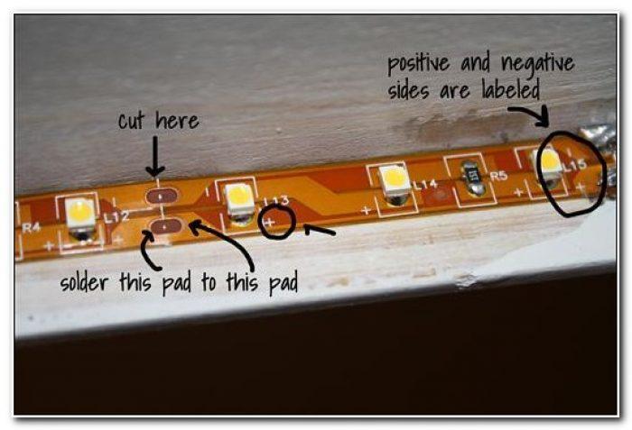 Led Strip Under Cabinet Lighting Diy