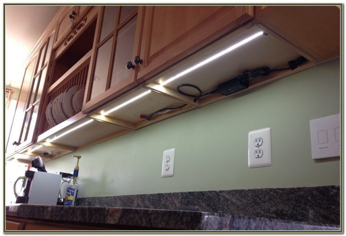 Led Tape Under Cabinet Lighting Installation