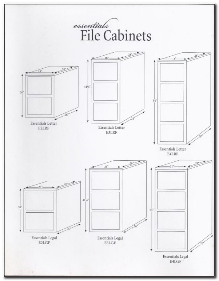 Legal File Cabinet Dimensions