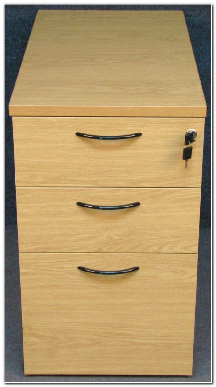 Light Oak Effect Filing Cabinet