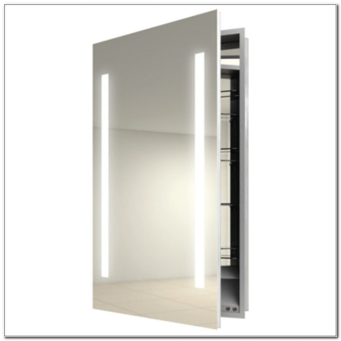 Lighted Wall Mount Medicine Cabinet