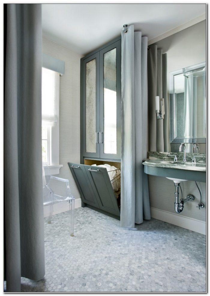 Linen Cabinet With Built In Hamper