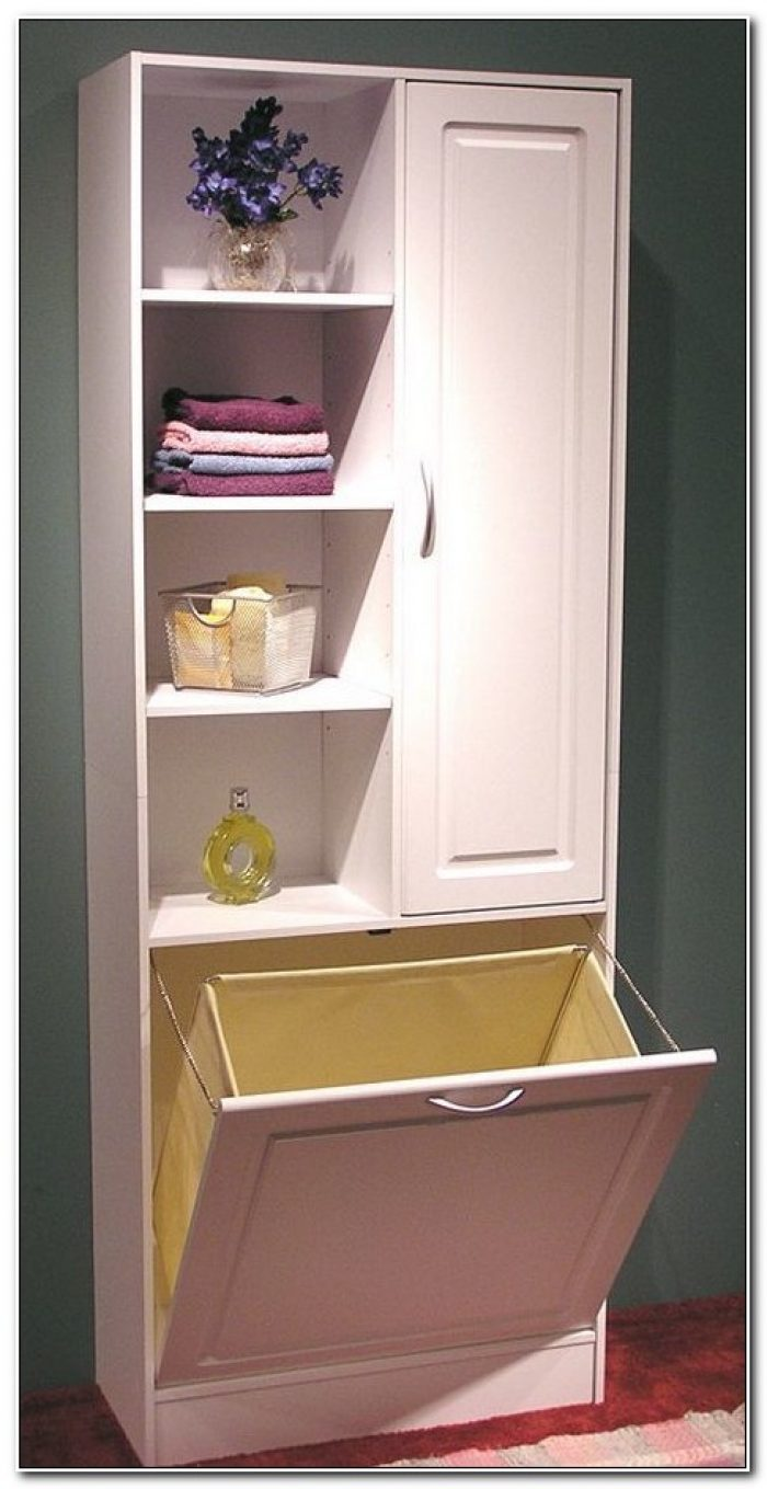 Linen Cabinet With Laundry Hamper