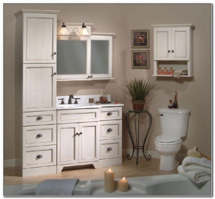 Linen Tower Cabinets Bathroom