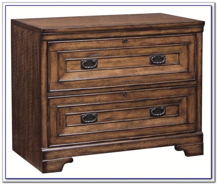Locking Wood Lateral File Cabinet