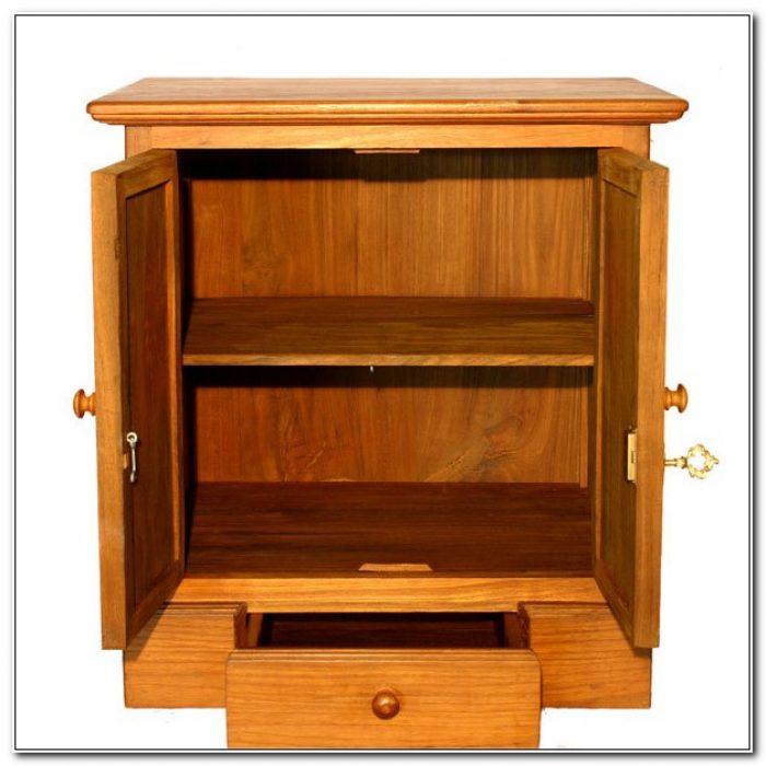 Locking Wood Storage Cabinets