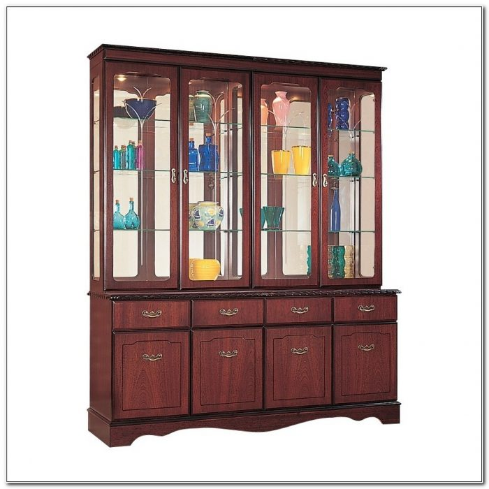 Mahogany Display Cabinets With Glass Doors